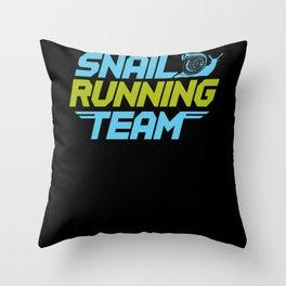 Snail Running Team Throw Pillow