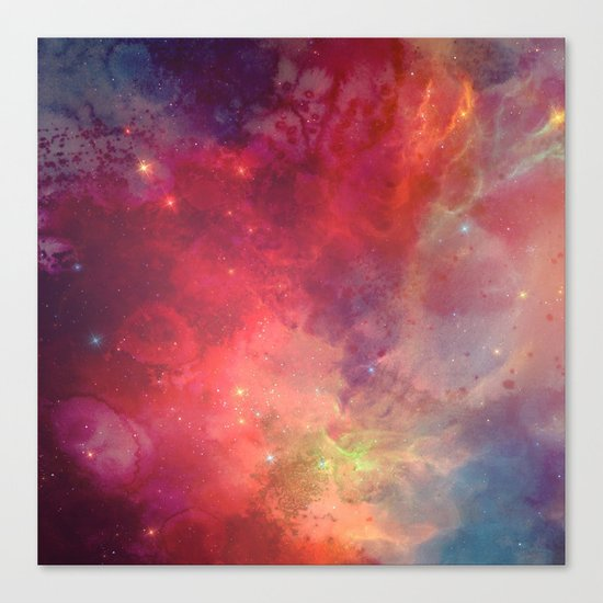 Watercolor space #4 Canvas Print