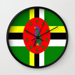 . Flag of Dominica Wall Clock