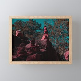 Inverted Stacks Framed Mini Art Print