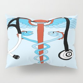 medical caduceus and stethoscope Pillow Sham