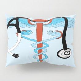 medical caduceus and stethoscope Pillow Sham