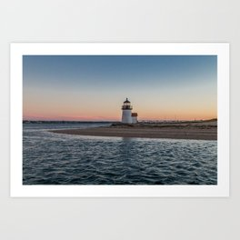 Brant Point Lighthouse Tapestry - Nantucket Island Art Print