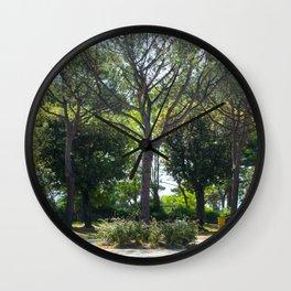 crossroad's tree Wall Clock
