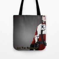 poe Tote Bags featuring Poe by KL Design Solutions