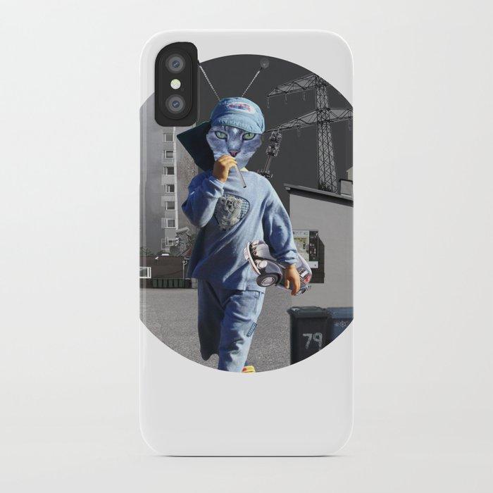 CatKid in illusion City Collage iPhone Case