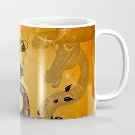 Funny steampunk giraffe with hat Coffee Mug