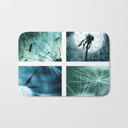Dandelion art Bath Mat