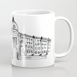 drawing pencil. the city central street, a streetlight on a front background. beginning of the 19th Coffee Mug