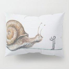snail and little boy Pillow Sham