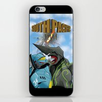 pacific rim iPhone & iPod Skins featuring South Pacific Rim by Kozmanaut