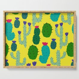 funny cacti Serving Tray