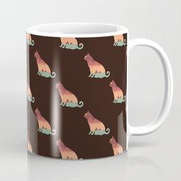 Silluette Cat Landscape Autumn Coffee Mug