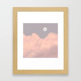 Full Moon Sky Aesthetic Framed Art Print
