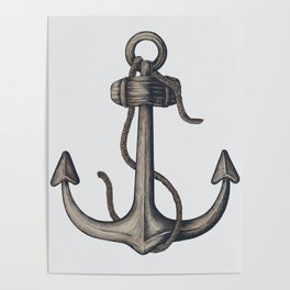 Nautical Summer Anchor Poster