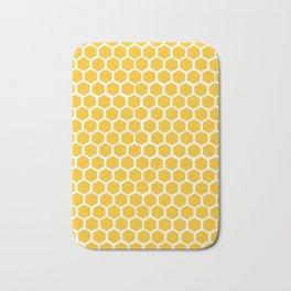 Honey-coloured Honeycombs Bath Mat
