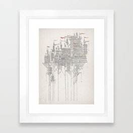 Zenobia the Invisible City Framed Art Print