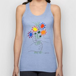 Pablo Picasso Bouquet Of Peace 1958 (Flowers Bouquet With Hands), T Shirt, Artwork Unisex Tank Top