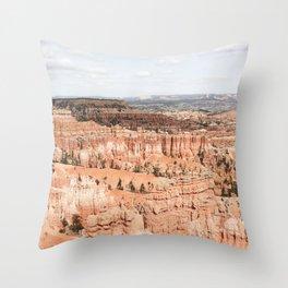 Bryce Canyon National Park Travel Photography Print | Orange Hoodoos Landscape Of Utah Digital Art Photo | USA Nature Colors Throw Pillow