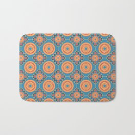 Lisbon Sunrise Portuguese Tile Seamless Pattern Bath Mat