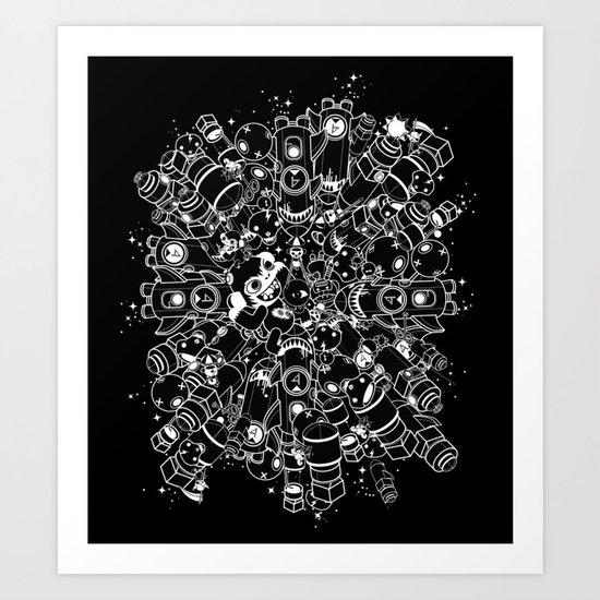 For Good For Evil - ver2 BLACK Art Print