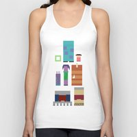 monsters inc Tank Tops featuring Monsters Inc. by Raquel Segal