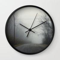 nashville Wall Clocks featuring Nashville Fog by Jason Delkou