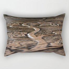Carved Nature Rectangular Pillow