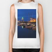marina Biker Tanks featuring Ardrossan Marina by Paul & Fe Photography