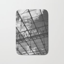 Glass Ceiling IV (Portrait) - Black and White Architectural Photography Bath Mat