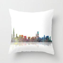 Chicago Skyline 1 BW1 Throw Pillow
