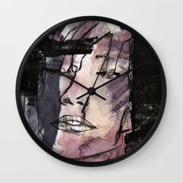 Skinny thoughts Watercolor Wall Clock