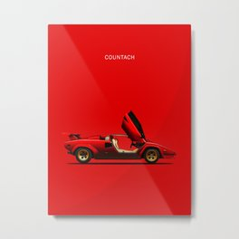The Countach Metal Print