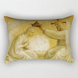 """Fra Angelico (Guido di Pietro) """"Coronation of the Virgin"""" (San Marco) 1440-1441 Rectangular Pillow"""