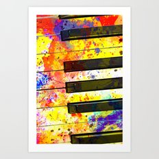 Colour Keys Art Print