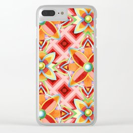 Suzani Compass Rose Clear iPhone Case