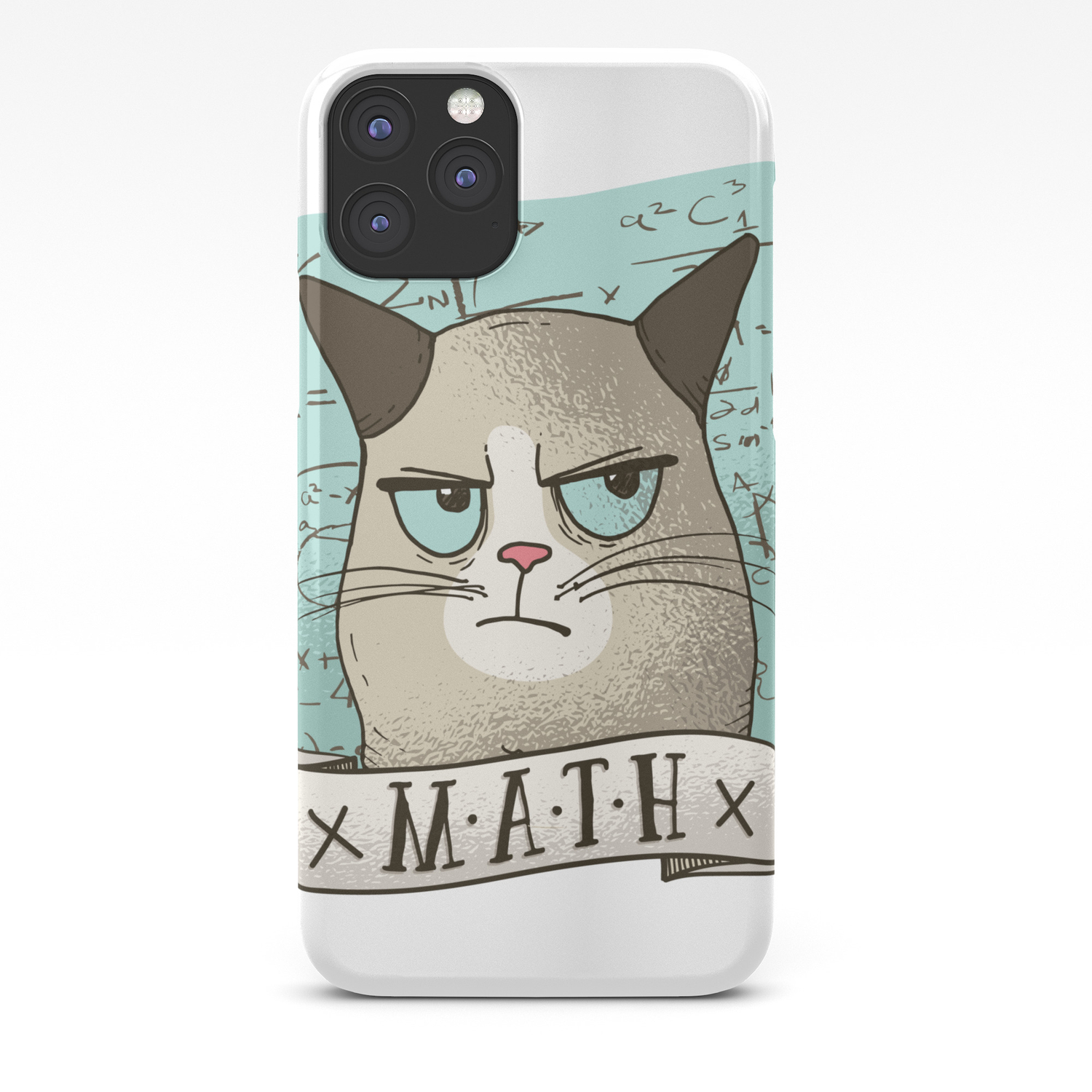 Grouchy Math Cat Iphone Case By Angelandspot Society6