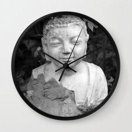 Buddha back and white Wall Clock