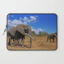 Walking elephants - Africa wildlife Laptop Sleeve
