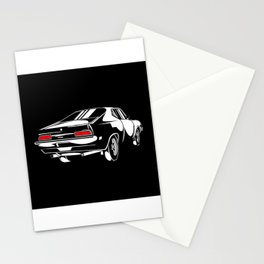 Retro Sports Car Speedster Gift Motif Design Stationery Cards