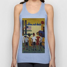 African American Masterpiece 'Ferry' NYC by William Johnson Unisex Tank Top