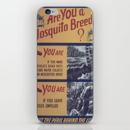 Vintage poster - Mosquito breeder iPhone Skin
