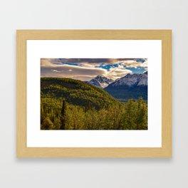 Termination Dust - Glenn Highway, Alaska Framed Art Print