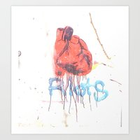 Bleeding Heart Graffiti Art Print