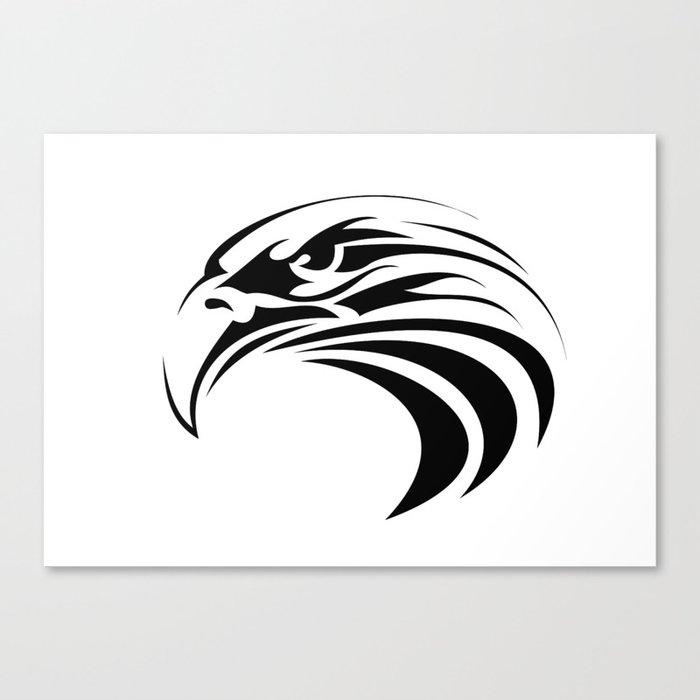 Tribal Eagle Tattoo America Symbol Bird Patriot Canvas Print By Tony4urban