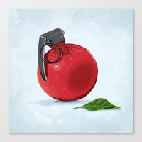 pomegranate Canvas Prints featuring Pomegranate by Robert Richter – Artist & Illustrator
