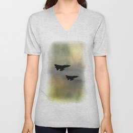 Tornadoes at Dawn Unisex V-Neck