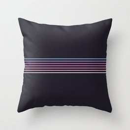 Pink Colored Retro Stripes Throw Pillow
