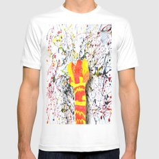 SPLASH FLOWER MEDIUM Mens Fitted Tee White