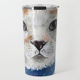 Mr. Peabody Cat Portrait Travel Mug
